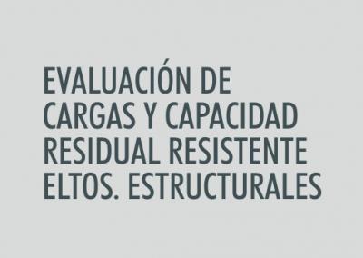 ASIGNATURA Evaluación de cargas y capacidad residual resistente de los elementos estructurales