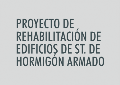 ASIGNATURA Proyecto de rehabilitación de edificios de estructura de hormigón armado