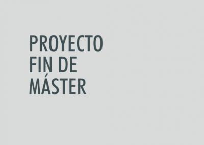 ASIGNATURA Proyecto Fin de Máster