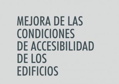ASIGNATURA Mejora de las condiciones de accesibilidad de los edificios