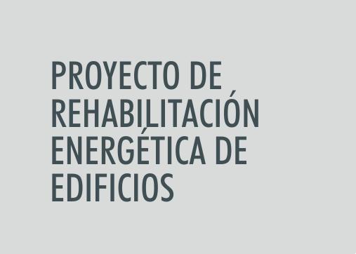 ASIGNATURA Proyecto de rehabilitación energética de edificios